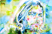 Singer  Paintings - Kurt Cobain Portrait.5 by Fabrizio Cassetta
