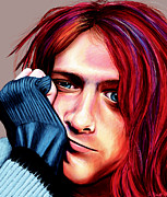 Kurt Cobain Digital Art - Kurt Cobain by Shawna  Rowe