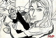 Kurt Cobain Art - Kurt Cobain With Strawberry Quik by Ebenlo PainterOfSong