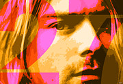 Rock And Roll Heaven Prints - Kurt Cobain27 Print by John Bruno