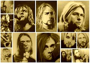 Cobain Prints - Kurt Mosaic Print by Christian Chapman Art