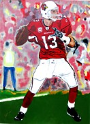 Bill Manson Fine Art Paintings - Kurt Warner-In The Zone by Bill Manson