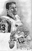 Pro Football Drawings Posters - Kurt Warner Poster by Jonathan Tooley