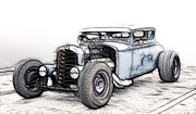 Model A Sedan Prints - Kustom Coupe Print by Steve McKinzie