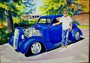 Therese Fowler-bailey Metal Prints - Kustom Kool Commish Metal Print by Therese Fowler-Bailey