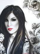 Roses Painting Posters - k.v.d Poster by Christian Chapman Art