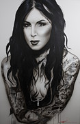 Tattoo Art Prints - k.v.d. Ii Print by Christian Chapman Art