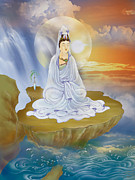 Guan Yin Prints - Kwan Yin - Goddess of Compassion Print by Lanjee Chee