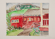 ; Maui Drawings Framed Prints - Kwok Hing Society Maui Framed Print by Fred Truitt