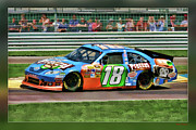 Blake Richards Framed Prints - Kyle Busch Framed Print by Blake Richards