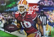 49ers Painting Prints - Kyle Williams 49ers Print by Jerald Vallan