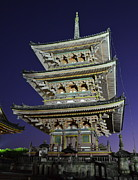 National Treasure Prints - Kyoto Shrine at Night Print by Corinne Rhode