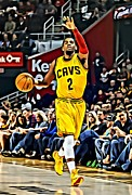 Slam Dunk Framed Prints - Kyrie Irving Framed Print by Florian Rodarte