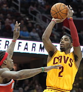 Cavaliers Metal Prints - Kyrie Irving Poster Metal Print by Sanely Great