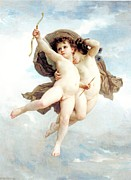 Bow And Arrow Posters - L Amour Vainqueur Poster by William Bouguereau