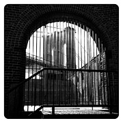 Nyc Digital Art Metal Prints - l Bridge l Brick l Bars l Metal Print by Natasha Marco
