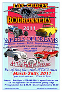 Framed Mixed Media - L C RodRunner Car Show Poster by Jack Pumphrey