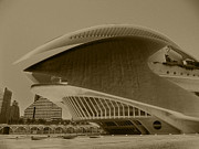Architektur Photo Posters - L Hemisferic - Valencia Poster by Juergen Weiss