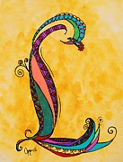 Fantasy Originals - L Monogram by Joyce Auteri