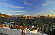 Culture Prints - La Alhambra Granada Spain Print by Guido Montanes Castillo