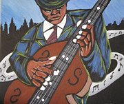 Wall Art Prints Digital Art Originals - LA Bass by Donald Lyons