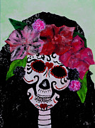 Rivera Mixed Media Framed Prints - La Calaveras Catrina Radka Framed Print by Alys Caviness-Gober