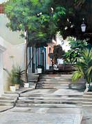 La Calle Del Hospital Print by Ben  Morales-Correa