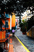 Puerto Rico Photo Prints - La Calle Print by Simone Hester
