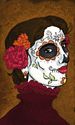 Dia De Los Muertos . Mexican. Face   Skull Paintings - La Caterina by Whitney Morton