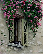 Provence Village Painting Prints - La Chad Print by Michael Swanson