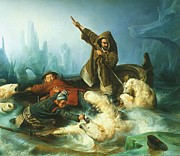 Polar Bears Paintings - La Chasse eaux Ours Polaire by Pg Reproductions