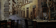 Trattoria Framed Prints - La Cippolla Rosa Framed Print by Curtis Dale