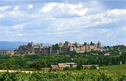 South Of France Framed Prints - La Cite de Carcassonne Framed Print by France  Art