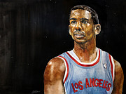 Los Angeles Clippers Prints - LA Clippers Chris Paul  Print by Michael  Pattison