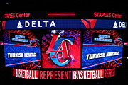 Professional Basketball Prints - LA Clippers Turkish Heritage Print by RJ Aguilar