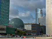 Paris France Posters - La Defense architecture Poster by Paris France