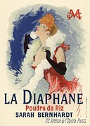 Paris Cafe Prints - La Diaphane Print by Sanely Great