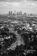 Los Angeles Skyline Metal Prints - La Metal Print by Dmitriy Nikelberg