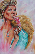 Evening Wear Painting Metal Prints - La Dolce Vita Metal Print by Grady Zeeman