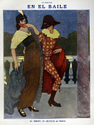 Featured Metal Prints - La Esfera 1910s Spain Cc Harlequins Metal Print by The Advertising Archives