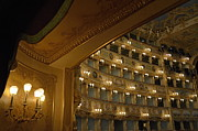 Tourist Destinations Framed Prints - La Fenice opera theater Framed Print by Sami Sarkis