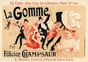 Paris Cafe Prints - La Gomme Print by Sanely Great