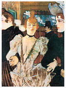 Fine Art  Of Women Painting Posters - La Goule Arriving at the Moulin Rouge with Two Women Poster by Henri Toulouse-Lautrec