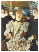 Henri De Toulouse-lautrec Paintings - La Goulue Arriving at the Moulin Rouge with Two Women by Henri De Toulouse-Lautrec