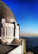 Griffith Framed Prints - LA Griffith Observatory afternoon Framed Print by Gabe Arroyo