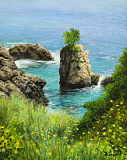 Picture Paintings - La Grotta - island of Corfu by Kiril Stanchev