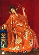 Oriental Style Paintings - La Japonaise by Pg Reproductions