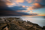 California Surf Prints - La Jolla Reef Sunset 10 Print by Larry Marshall