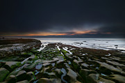 Surf Art Framed Prints - La Jolla Reef Sunset 11 Framed Print by Larry Marshall