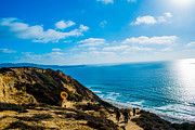 La Jolla Surfers Prints - La Jolla Seascape Print by Sean Ward